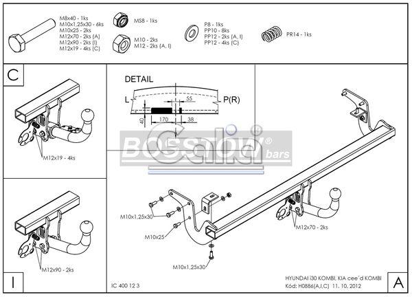 AHK PKW Kia Cee`d Sporty Wagon 12- abnehmbar