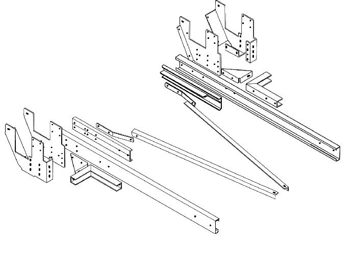 Rahmenverlängerung 2000mm Typ 01 für Mercedes Sprinter 208