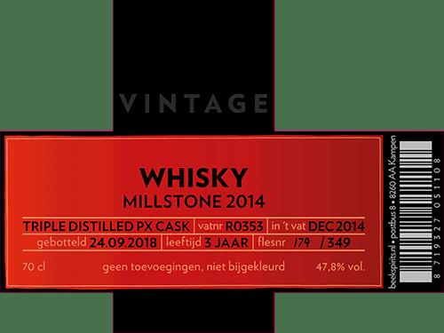 Beek_etiket_vintage_whisky_002_Millstone 2014