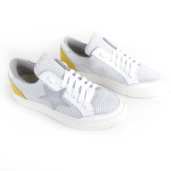 Scarpe sportive sneakers in pelle