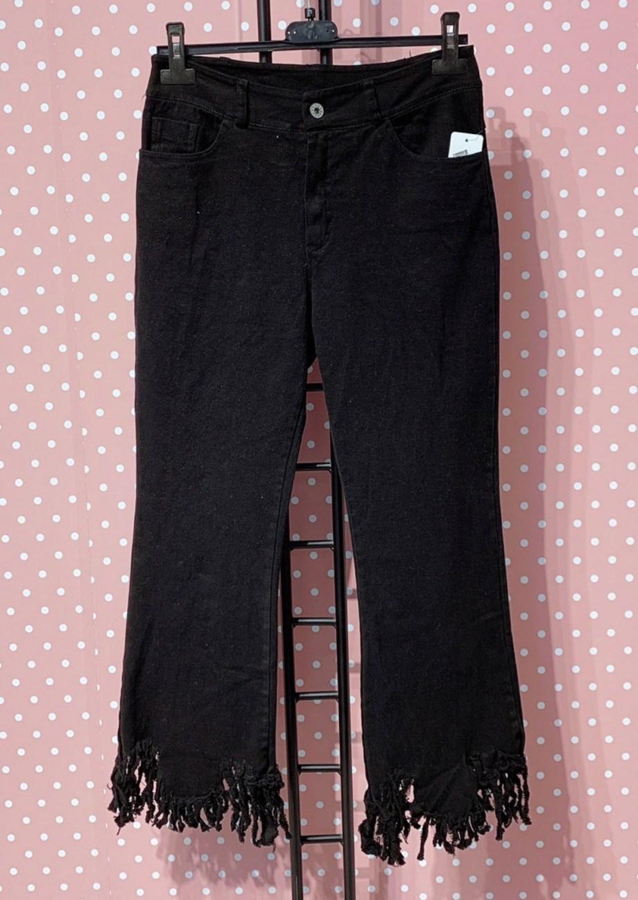 Jeans Frange Nero