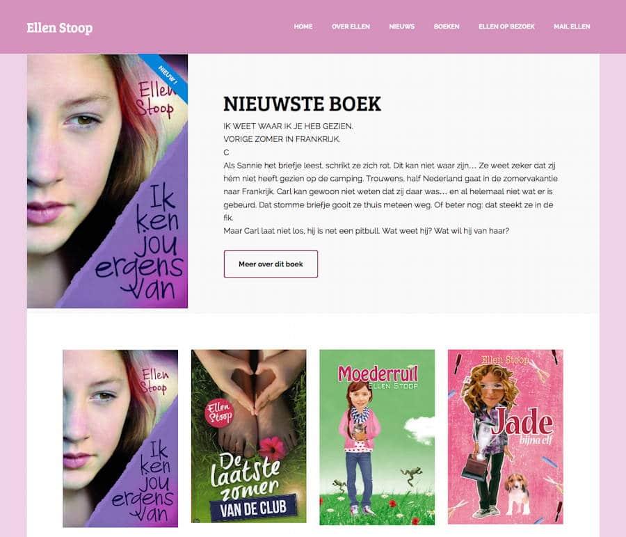 Een nieuwe website voor Ellen Stoop