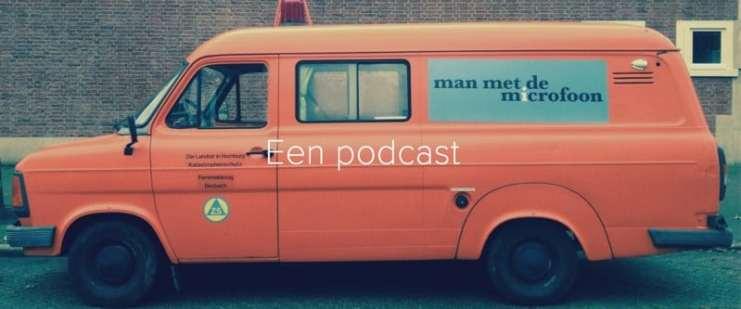 De bus van podcast Man met de microfoon - radio zonder omroep