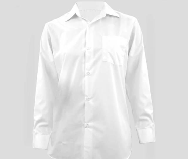 Beeloon Malaysia White Shirt Easy Care Long Sleeve