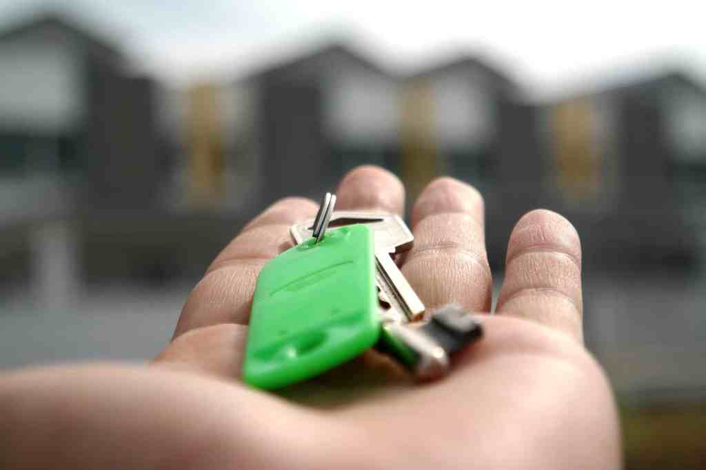 The keys to a rental property