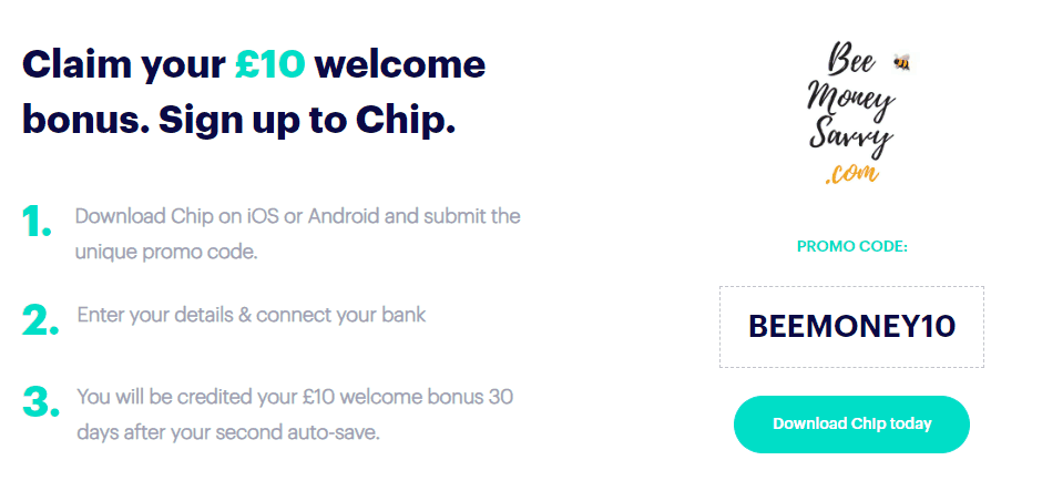 Chip £10 Welcome Bonus