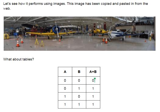 WordPress Test Post via Google Docs (as seen in Google Docs)