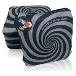 Black Spiral Set of 4 Beer Belly Bags Performance Cornhole Bags