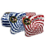 Red & Blue Stars & Stripes Set of 8 Beer Belly Bags Performance Cornhole Bags