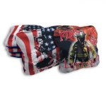 American Flag & Fireman Set of 8 Beer Belly Bags Performance Cornhole Bags