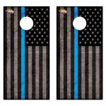 Blue American Flag Premium Cornhole Board Wrap Set of 2
