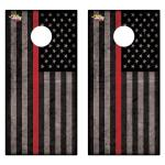 Red American Flag Premium Cornhole Board Wrap Set of 2