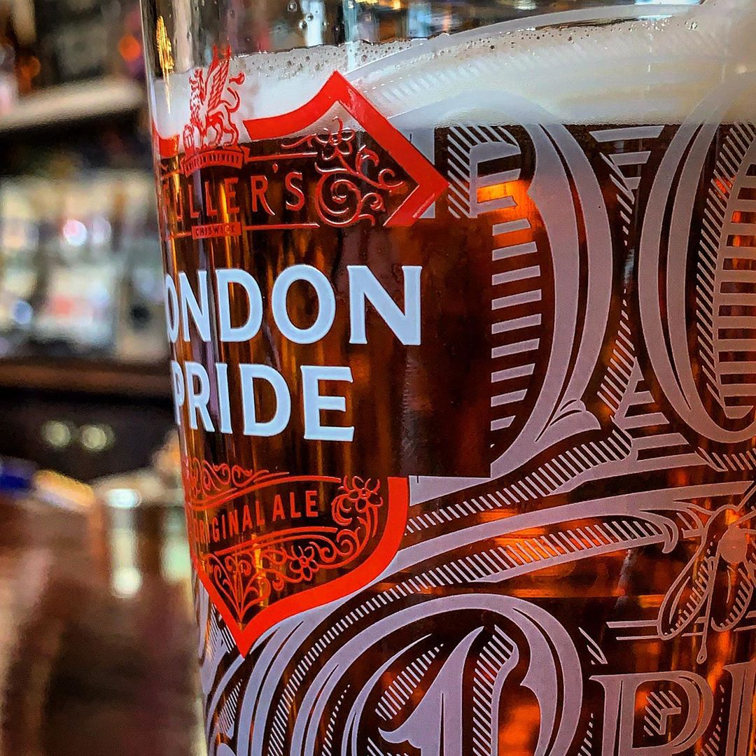 Not a trip to London without a pint of Pride.