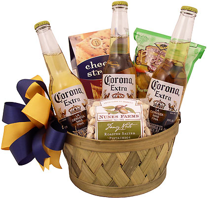 corona coolness gift basket