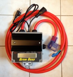 240v brew boss controller with separate 120v pump power cords [ 1140 x 1200 Pixel ]