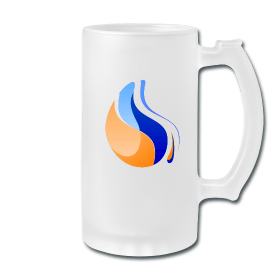 oil drop beer mug
