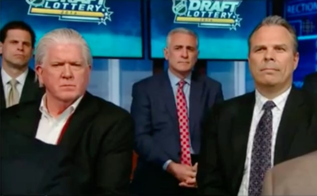 Ron Francis and Cheveldayoff's faces...