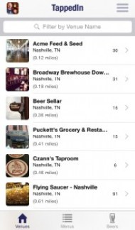 TappedIn Bar List