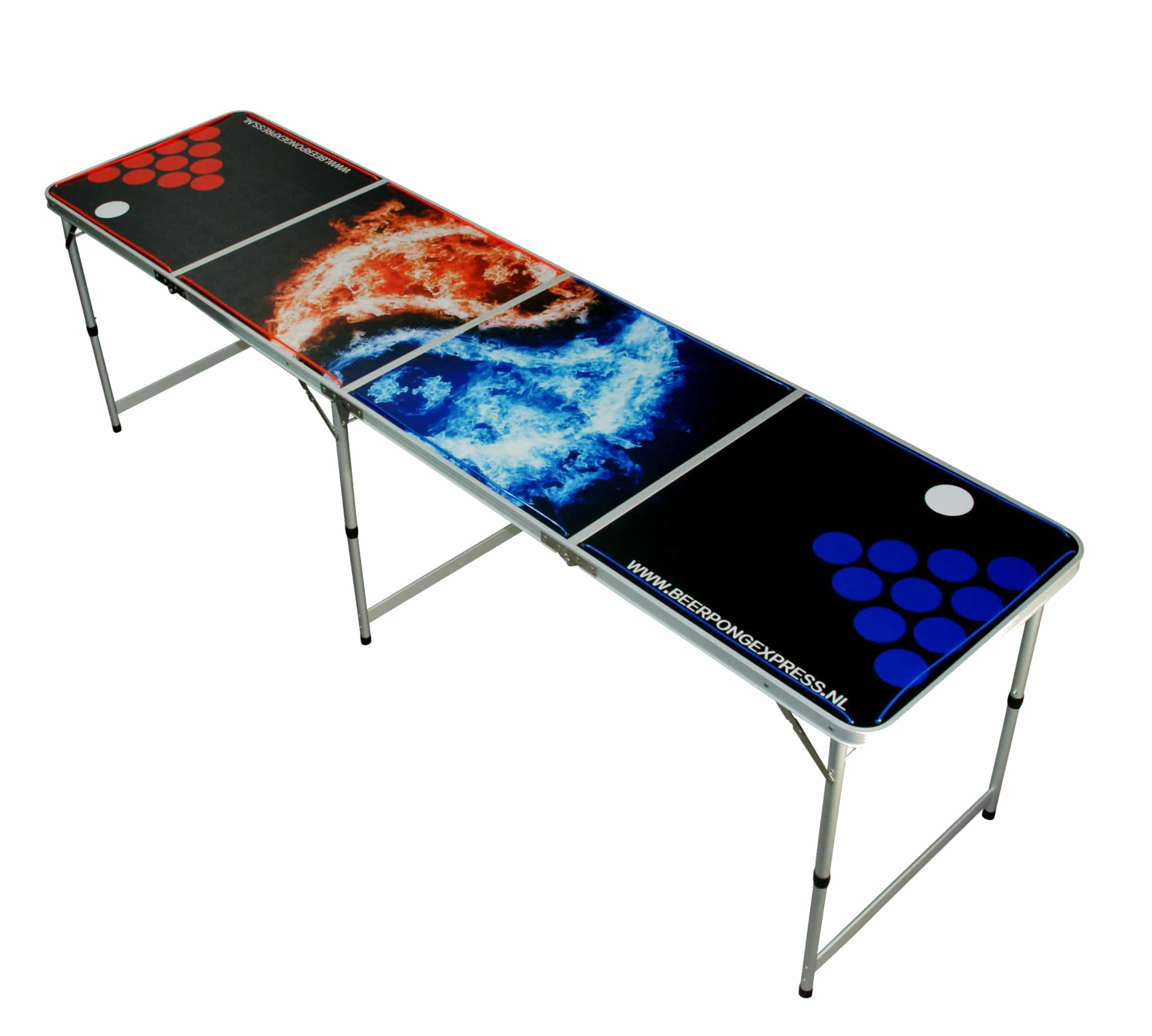 Yin Yang - Beer Pong Tafel - Inklapbaar - LED verlichting