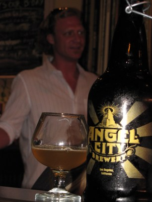 Angel City growler and brewer