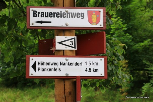 beer hiking sign