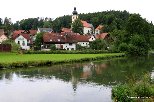 small village with church tower
