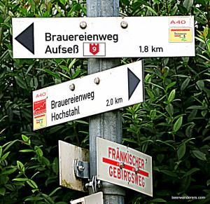 hiking sign aufsess