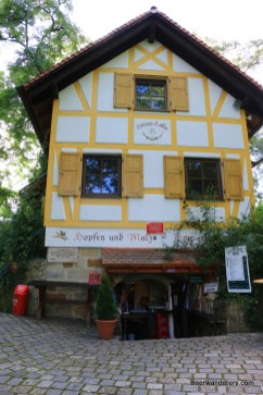 half-timbered beer dispensary