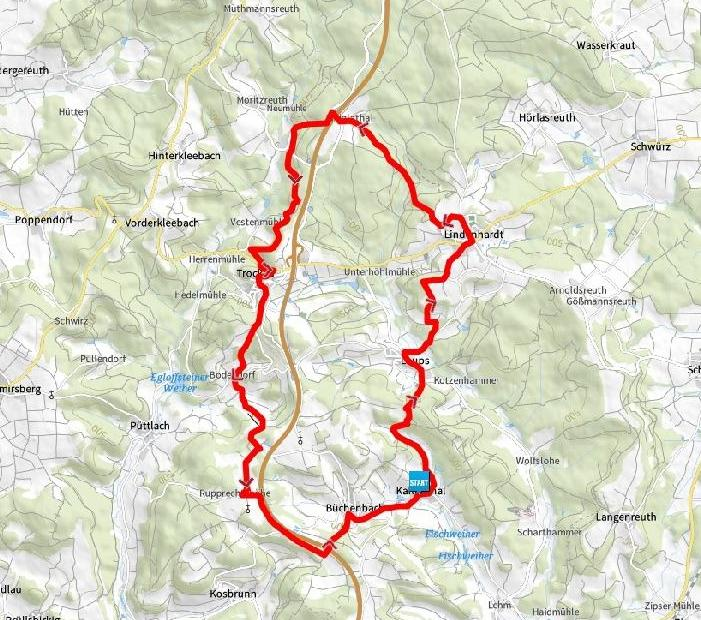 Bierquellenwanderweg map