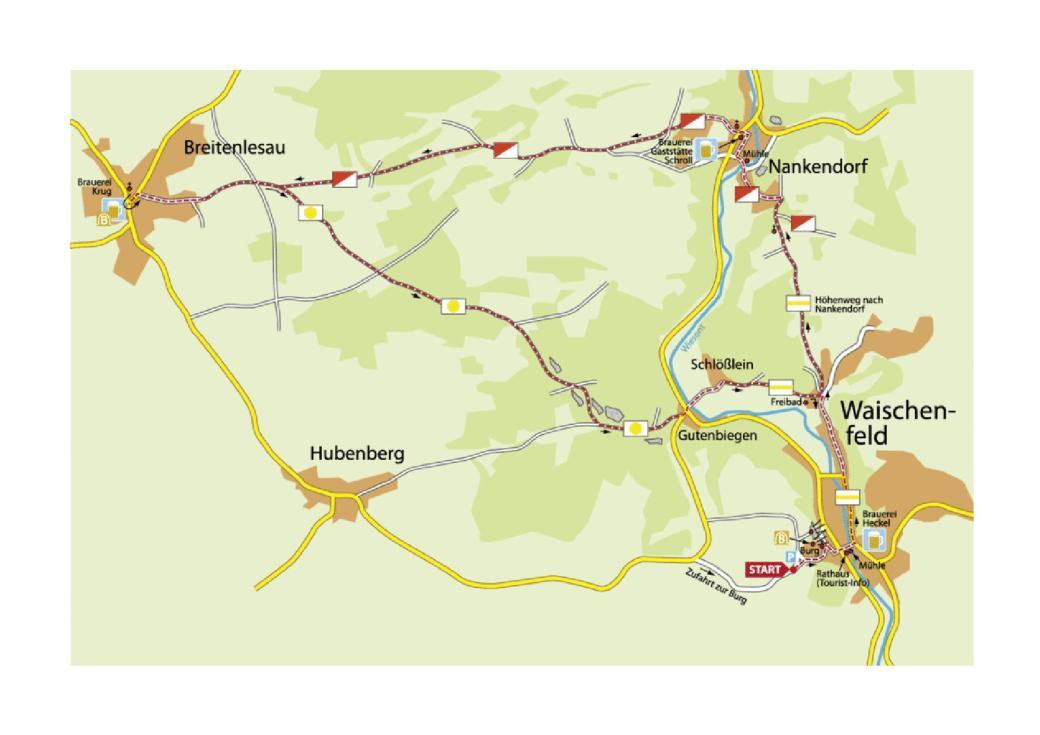 Burg und BierPfad Map