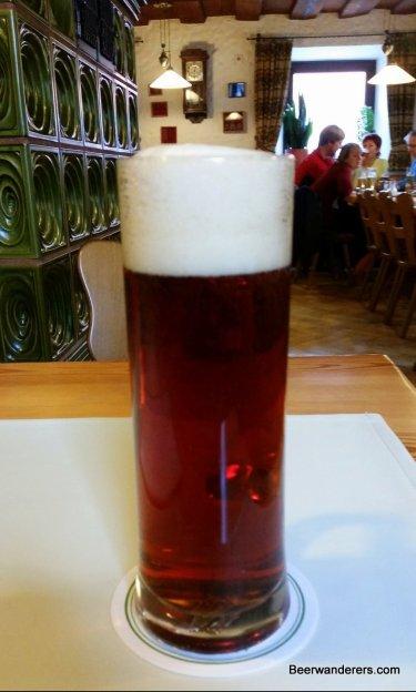 dark beer in tall mug