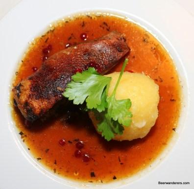 ducn breast with dumpling