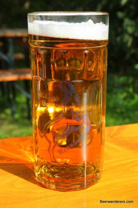 deep golde beer in mug