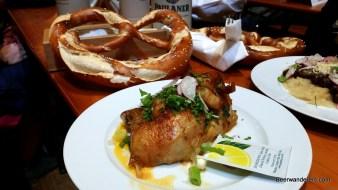 roast chicke with big pretzel