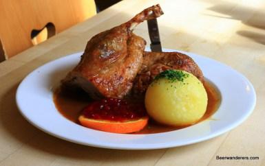roast duck with dumpling