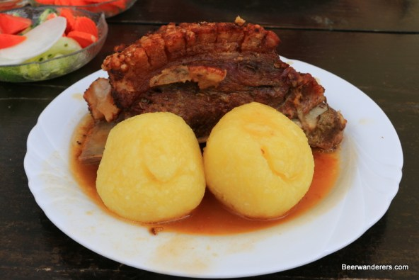 pork shoulder with dumplings