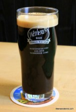 black beer in glass