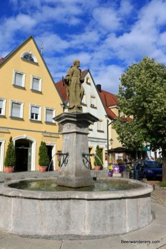 fountain in square
