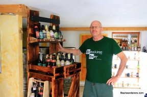 brewer with bottles