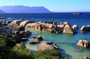 boulder in ocean