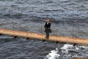 blond on bridge