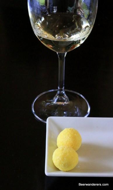 wine with white chocolate
