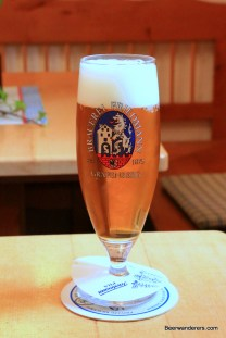 beer in pils glass