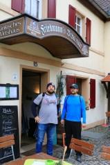 hikers at friedmann brewery