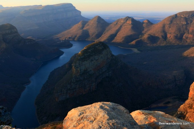 blyde river canyon sunset