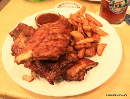 ribs with fries