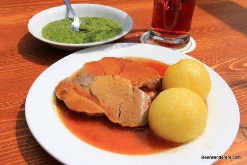 roast pork on plate