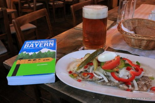 book, beer and food