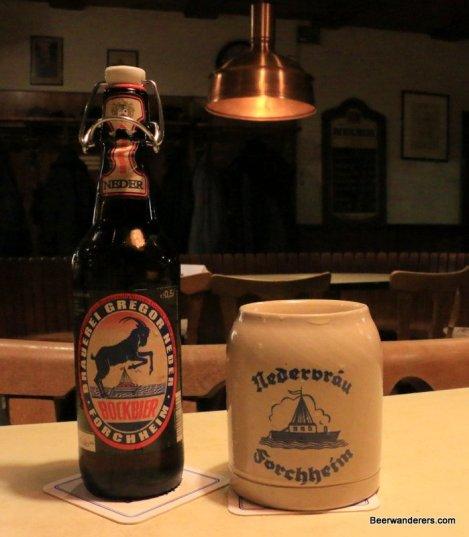 beer bottle with krug