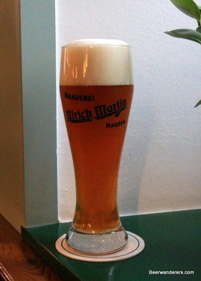 weissbier in glass